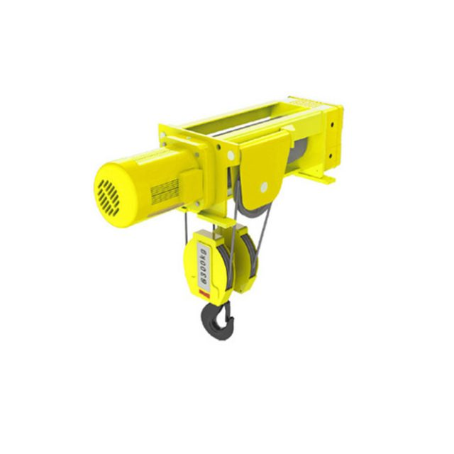 Foot-mounted wire rope hoist