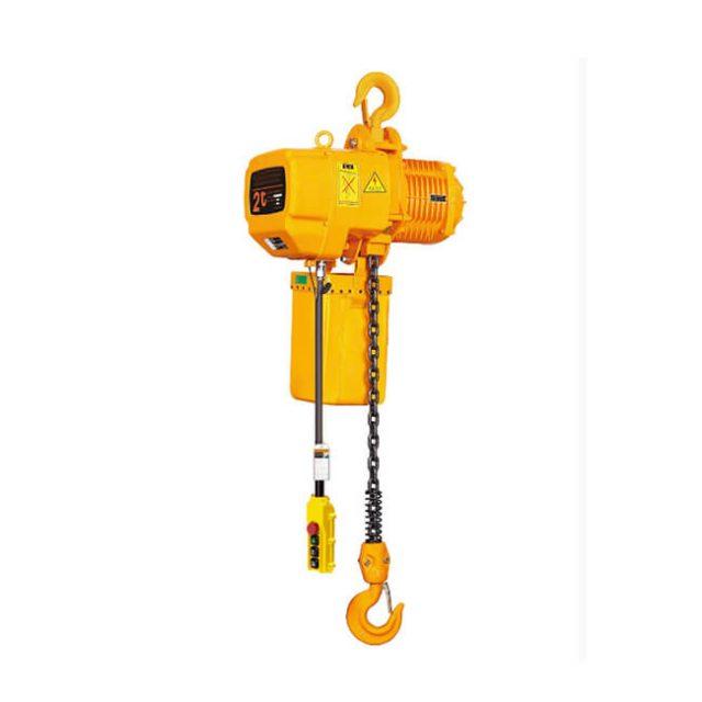 Hook suspension electric chain hoist