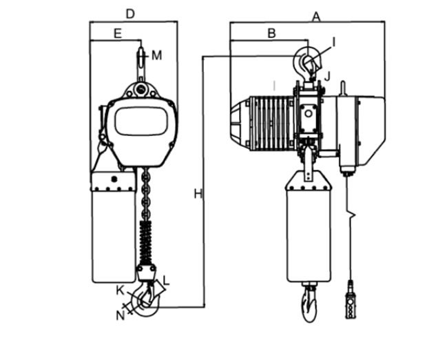 Hook suspension electric chain hoist 500kg-5tons