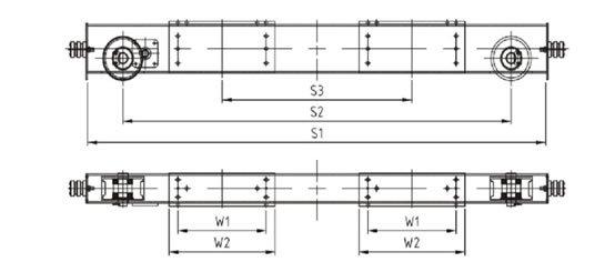 Double girder end carriage Technical data