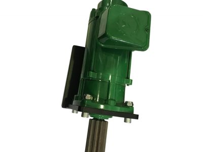 Geared electric motor for crane