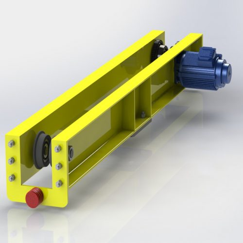 Under running end carriage